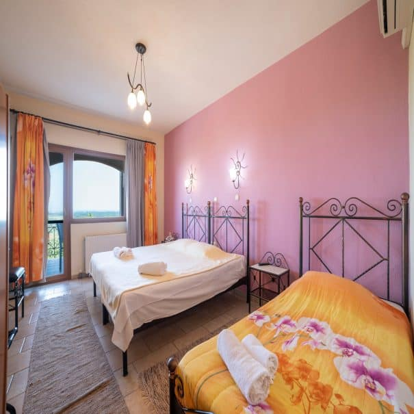 Triple room at hotel Erodios lake kerkini
