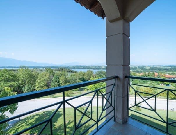 Balcony with lakeview Erodios hotel lake kerkini