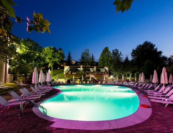 Hotel Erodios swimming pool on Lake Kerkini