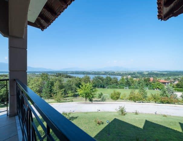 Balcony at hotel Erodios lake kerkini