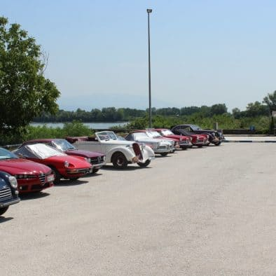 The AlfaRomeo's international club of friends, Registro Italiano Alfa Romeo, had lunch at the Aiolis restaurant.