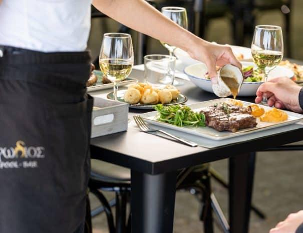 Lunch at Erodios restaurant lake Kerkini